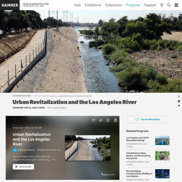 Urban Revitalization and the Los Angeles River - Hammer Museum