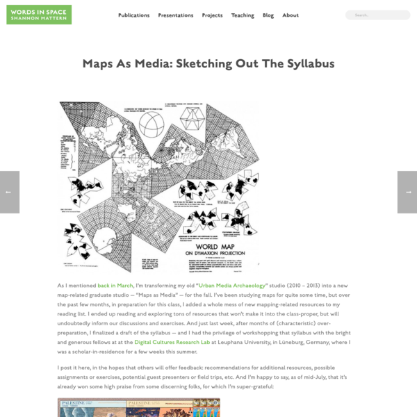 Maps as Media: Sketching Out the Syllabus
