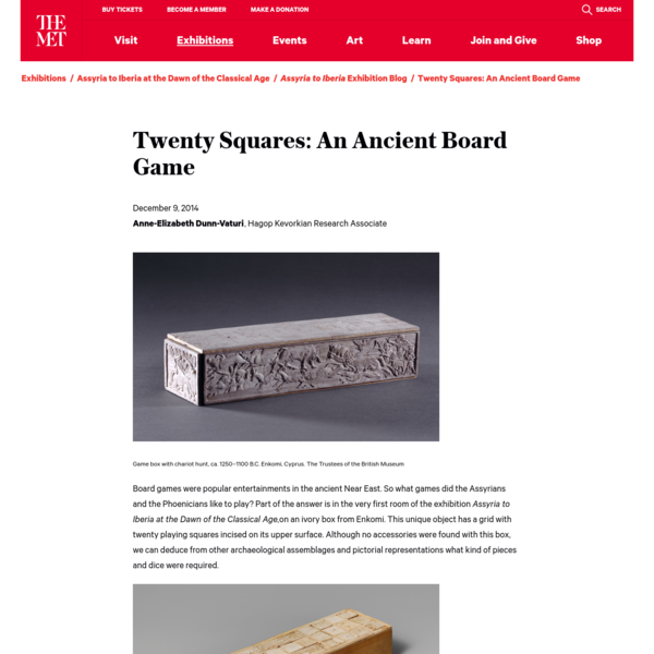 Twenty Squares: An Ancient Board Game