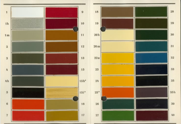 RAL Farbtonkarte, 840 L, 1941