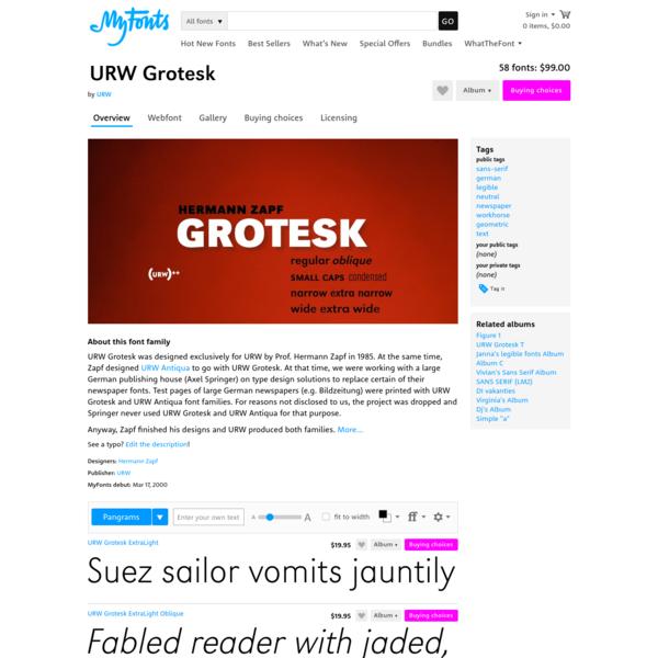 """URW Grotesk™ - Webfont & Desktop font """" MyFonts"""