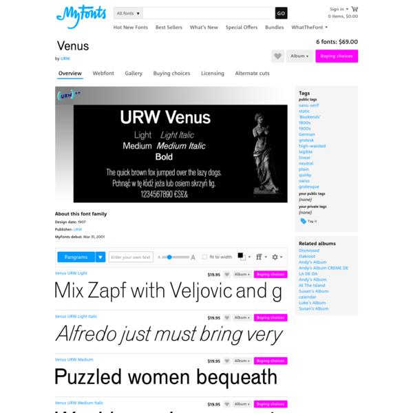 "Venus™ - Webfont & Desktop font "" MyFonts"