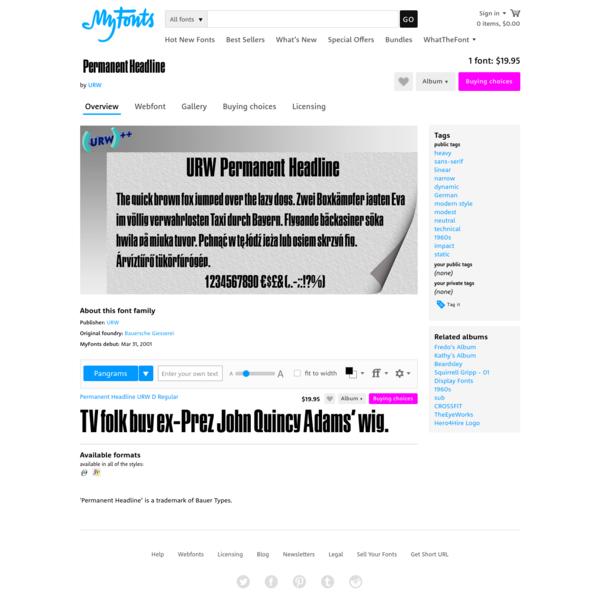 """Permanent Headline™ - Webfont & Desktop font """" MyFonts"""