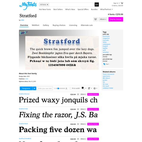 """Stratford™ - Webfont & Desktop font """" MyFonts"""