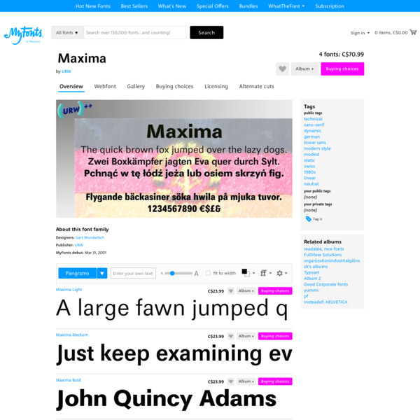 "Maxima - Webfont & Desktop font "" MyFonts"