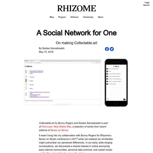A Social Network for One