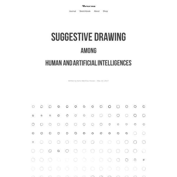 Suggestive Drawing Among Human and Artificial Intelligences | Nono Martínez Alonso