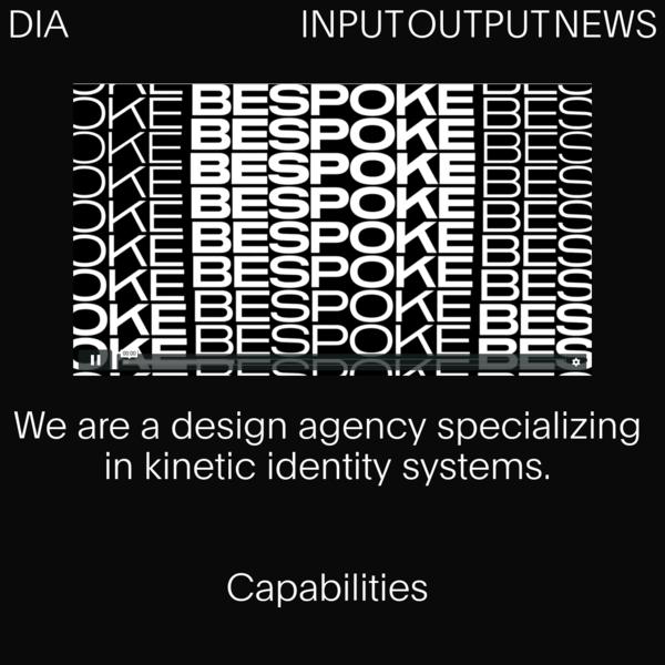 DIA Brand, Design & Typographic Kinesis