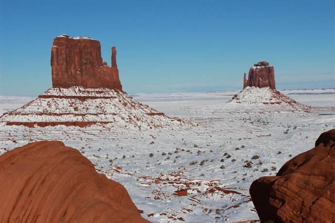Monument Valley Park in winter.