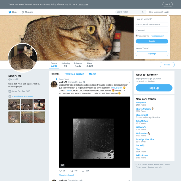 The latest Tweets from landru79 (@landru79). Not a Bot, I'm a Cat. Space, Cats & Russian people