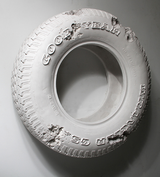 Rose Quartz Eroded Tire, 2014. Daniel Arsham