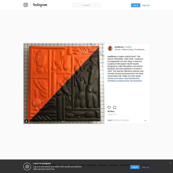 """48 Likes, 1 Comments - Thomas J. Watson Library (@metlibrary) on Instagram: """"A papier-mâché book? """"Die Wiener Werkstätte, 1903-1928 : modernes Kunstgewerbe und sein Weg"""" is..."""""""