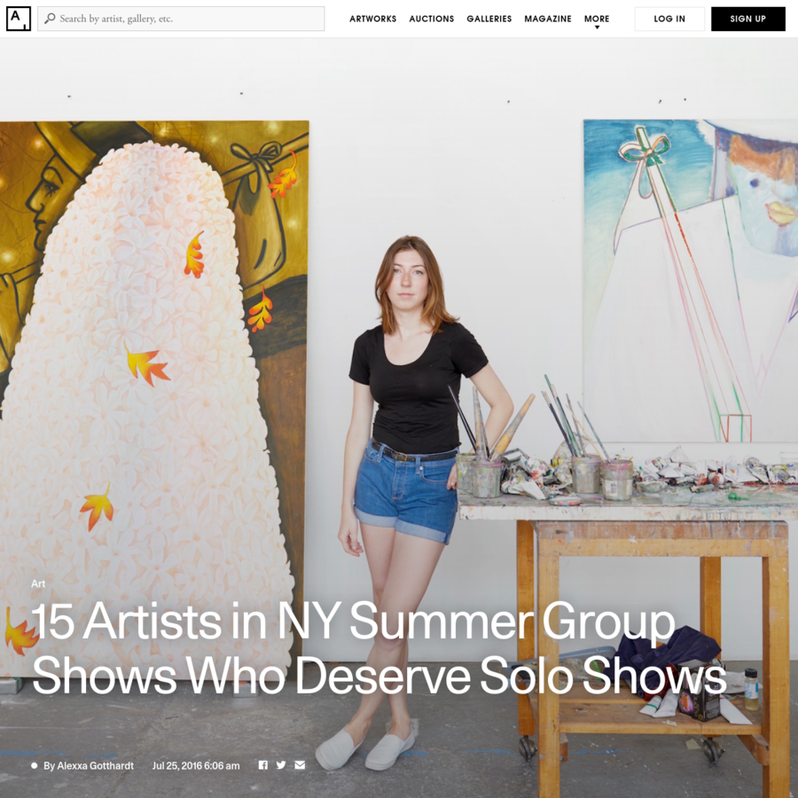 The July group show has become an art-world standby, but it remains a nimble platform for galleries eager to introduce new artists during the summer slowdown. This season, Artsy traversed group exhibitions across New York, on the lookout for exciting work made by young artists who haven't yet had their big breaks.
