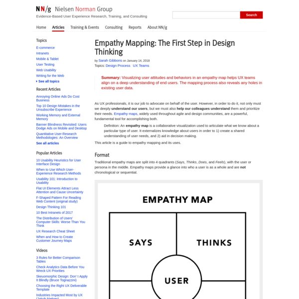 Empathy Mapping: The First Step in Design Thinking
