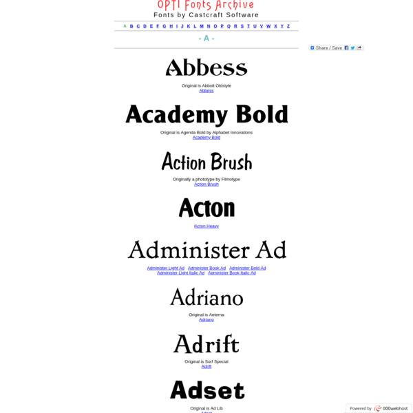 A Fonts - OPTI Fonts Archive