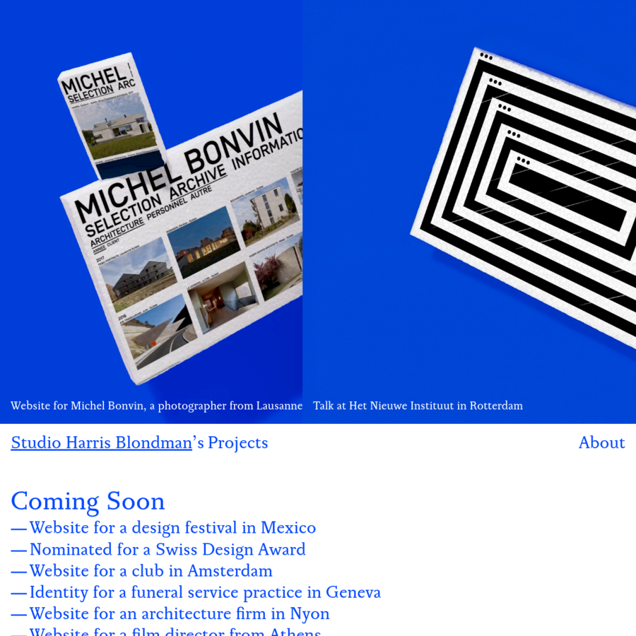 Studio Harris Blondman, digital, graphic, and design