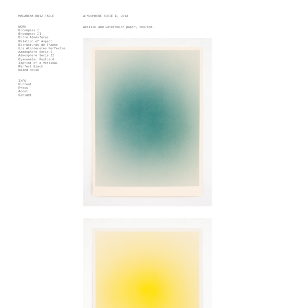 ATMOSPHERE SERIE I, 2013 Acrilic and watercolor paper, 56x76cm.
