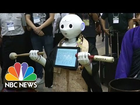 """Pepper's creators said the robotic Buddhist could cut the cost of a funeral to under $500 - one quarter of the price of a human priest. """" Subscribe to NBC News: http://nbcnews.to/SubscribeToNBC """" Watch more NBC video: http://bit.ly/MoreNBCNews NBC News is a leading source of global news and information."""