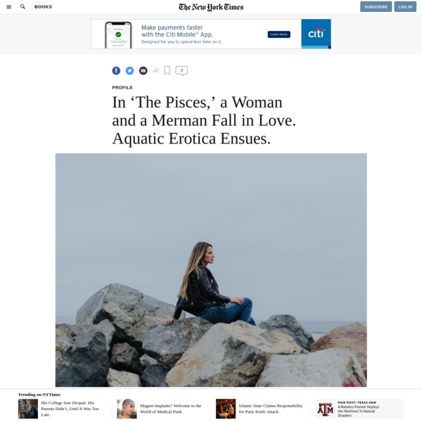 In 'The Pisces,' a Woman and a Merman Fall in Love. Aquatic Erotica Ensues.
