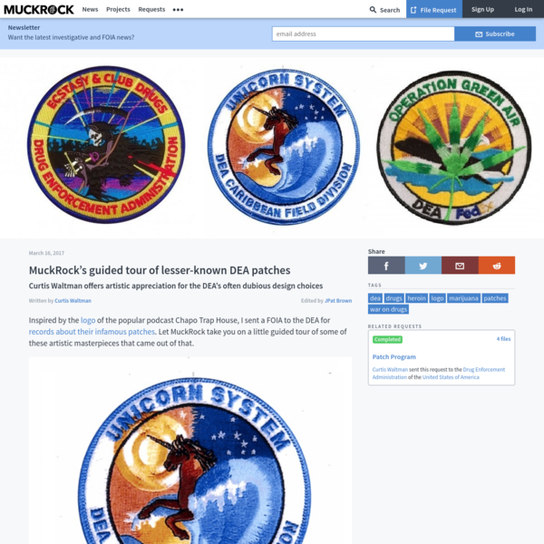 MuckRock's guided tour of lesser-known DEA patches • MuckRock