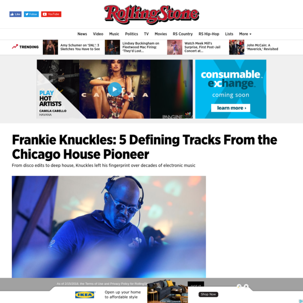 Frankie Knuckles Dead at 59: 5 Defining Tracks From the Chicago House Pioneer - Rolling Stone