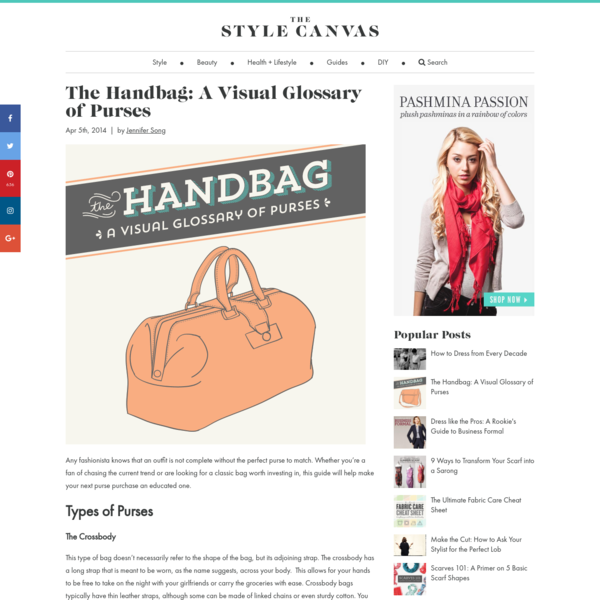 The Handbag: A Visual Glossary of Purses | The Style Canvas | Scarves.com's Fashion, Style, and Beauty Blog