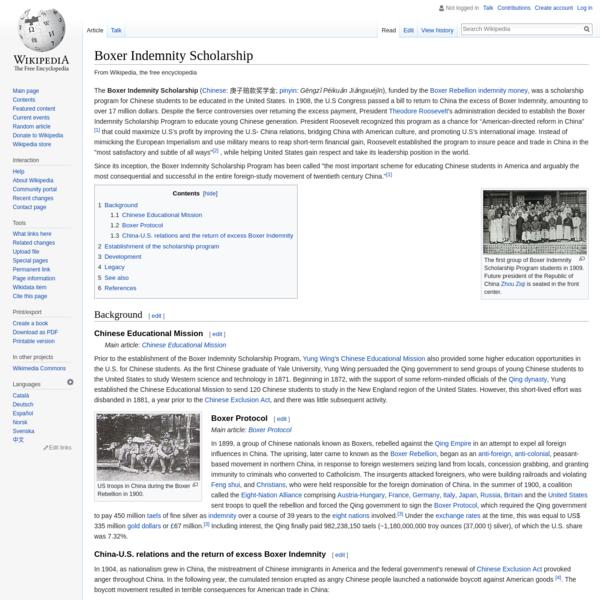 Boxer Indemnity Scholarship - Wikipedia