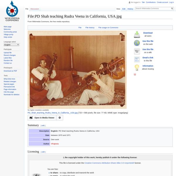 File:PD Shah teaching Rudra Veena in California, USA.jpg - Wikimedia Commons