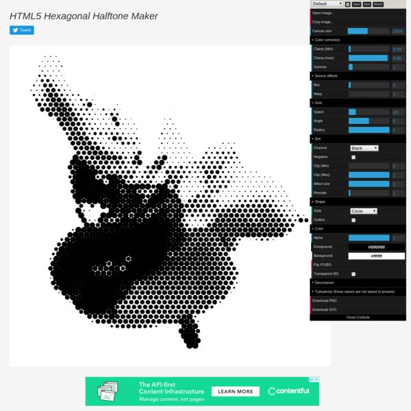 HTML5 Hexagonal Halftone Maker