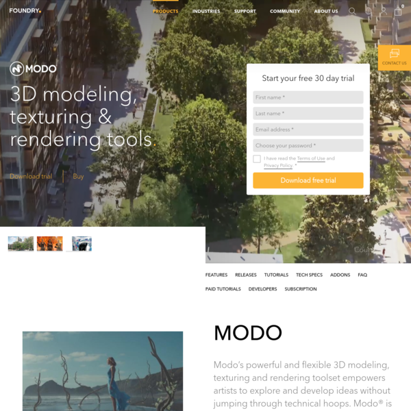 Modo Creative 3D Modeling Software | Foundry