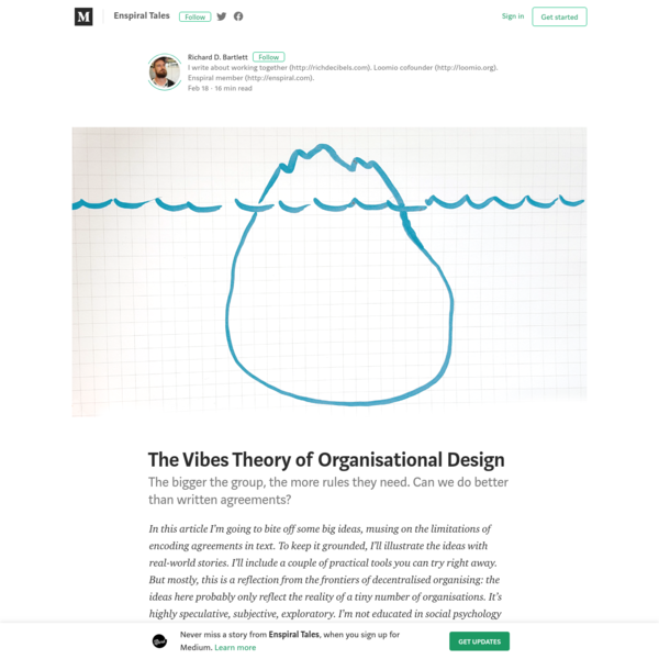 The Vibes Theory of Organisational Design - Enspiral Tales - Medium