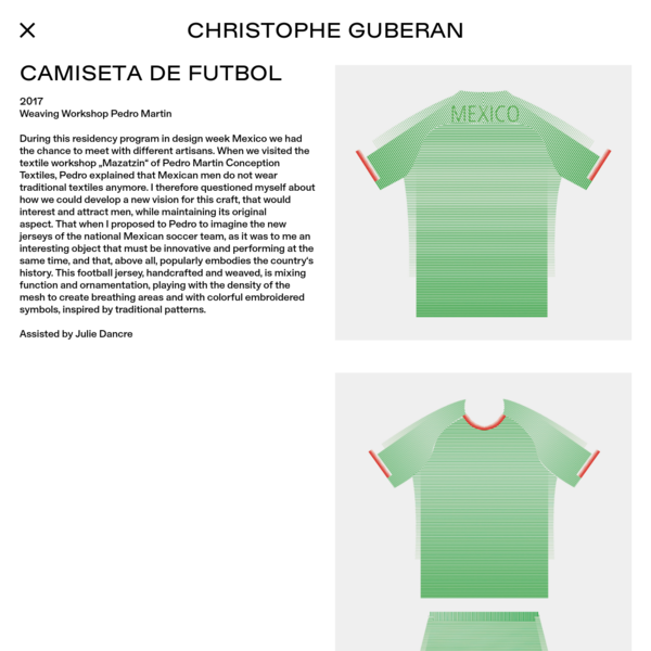 Christophe Guberan - Camiseta de futbol