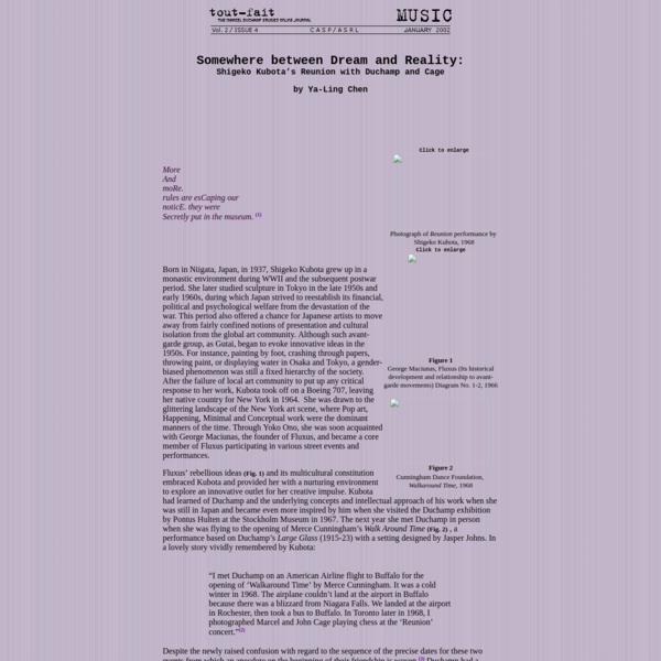 Music, TOUT-FAIT: The Marcel Duchamp Studies Online Journal