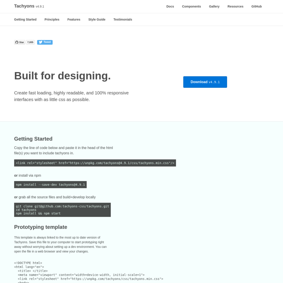 Build beautiful, responsive, readable interfaces.