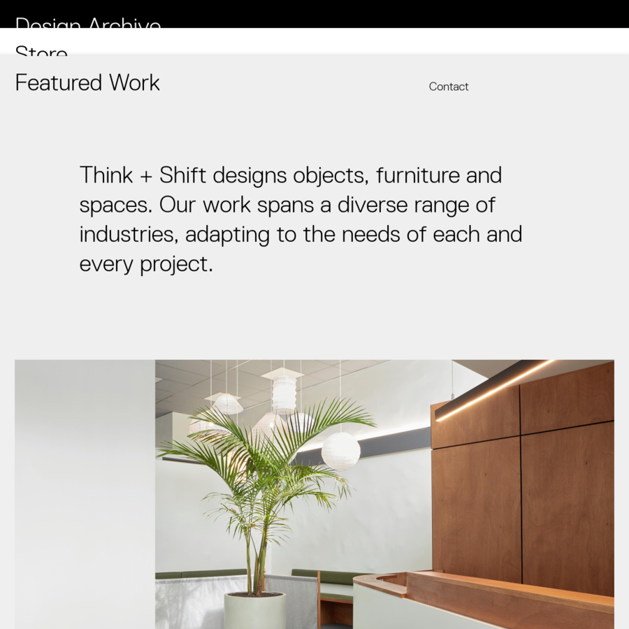 Think and Shift create and design award-winning furniture and spaces from their Auckland Studio.