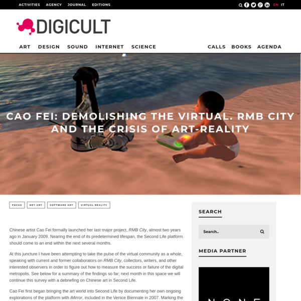 Cao Fei: Demolishing The Virtual. Rmb City And The Crisis Of Art-reality | Digicult | Digital Art, Design and Culture