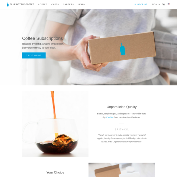 Coffee Subscription Free Trial - Blue Bottle At Home