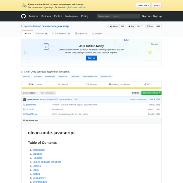 ryanmcdermott/clean-code-javascript