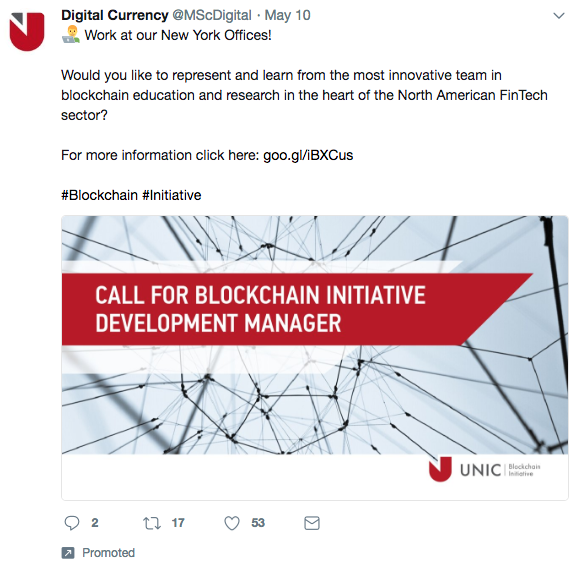 "Digital Currency ""Work at our New York Offices!"" (May 15, 2018)"