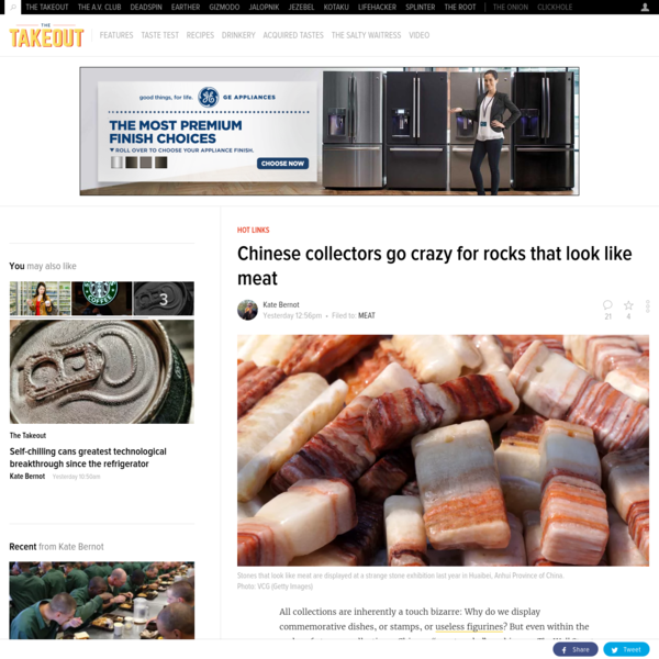 Chinese collectors go crazy for rocks that look like meat