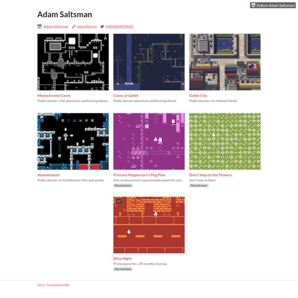 Adam Saltsman - (open source Tilesheets) itch.io