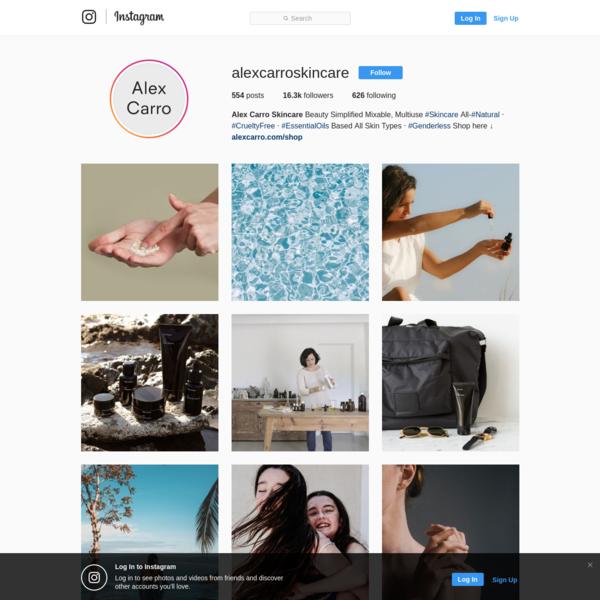 Alex Carro Skincare (@alexcarroskincare) * Instagram photos and videos