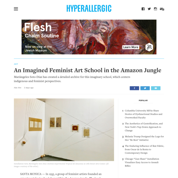 An Imagined Feminist Art School in the Amazon Jungle