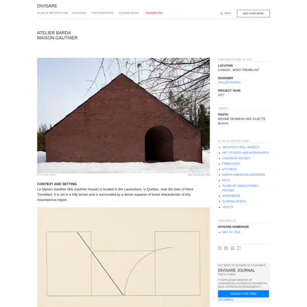 Atelier Barda · Maison Gauthier