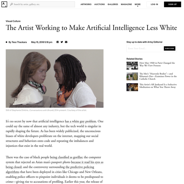 The Artist Working to Make Artificial Intelligence Less White