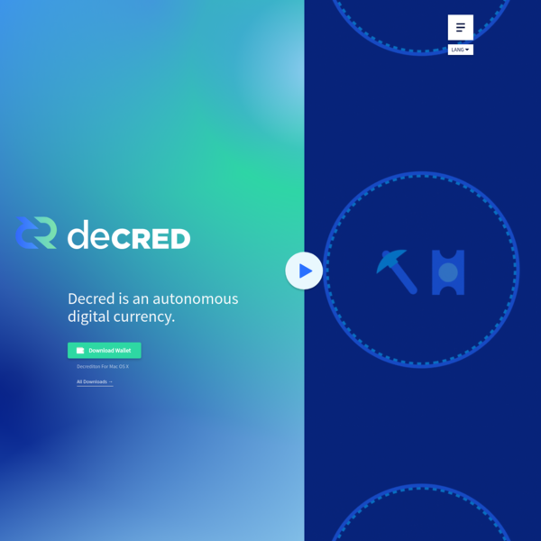 Decred is an autonomous digital currency. With a hybrid consensus system, it is built to be a decentralized, sustainable, and self-ruling currency where stakeholders make the rules.