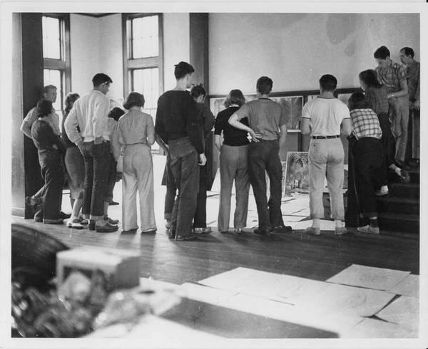 Joseph Albers Drawing Class. 1939-1940.
