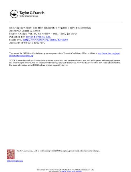 Required Reading - Donald Schön