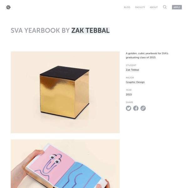 SVA Yearbook by Zak Tebbal