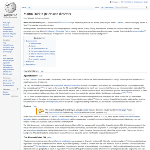 Martin Durkin (television director) - Wikipedia